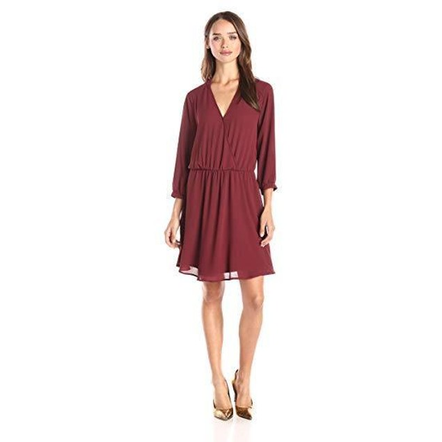 Brigitte Bailey Women's Adira Dress Red Mattogany Dress MD