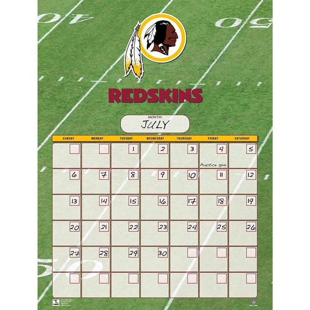 Washington Redskins Perpetual Calendar