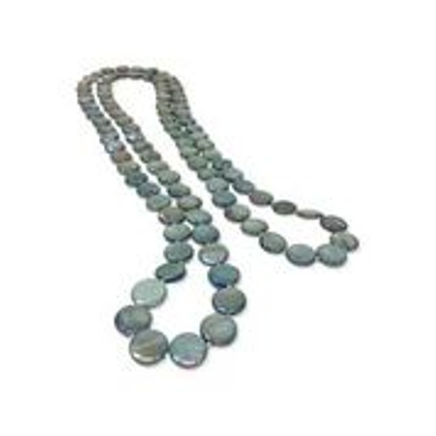 Oyster Bay Collection Mermaid Green Double Strand Mother-of-pearl Necklace