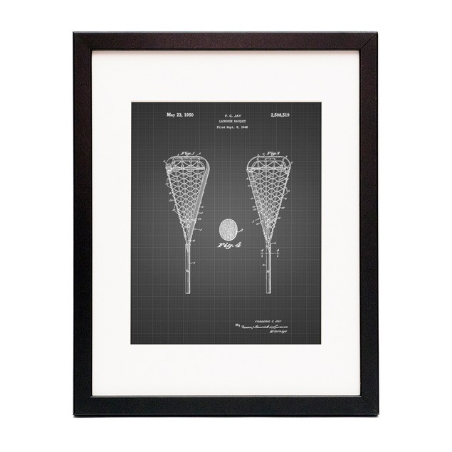 Lacrosse Stick 1948 Patent Poster