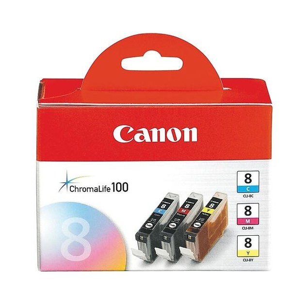 Genuine Canon CLI-8 C/M/Y Ink Cartridges Color set of 3 Pack