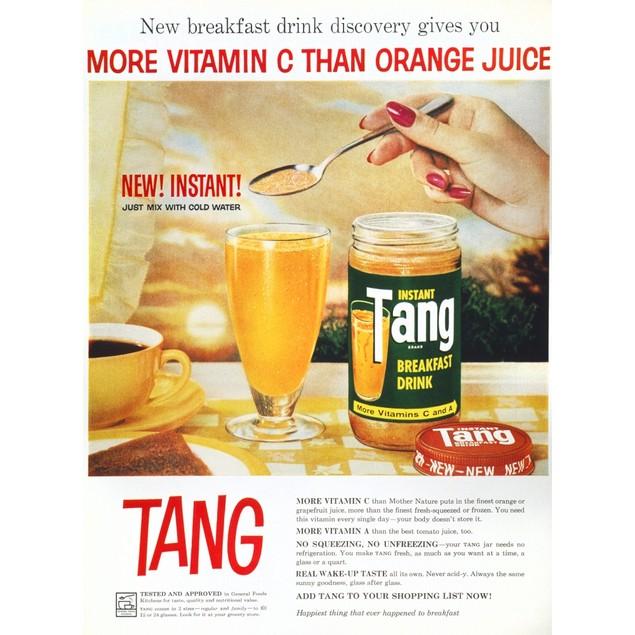Tang Advertisement, 1959. /N'More Vitamin C Than Orange Juice'. Advertiseme