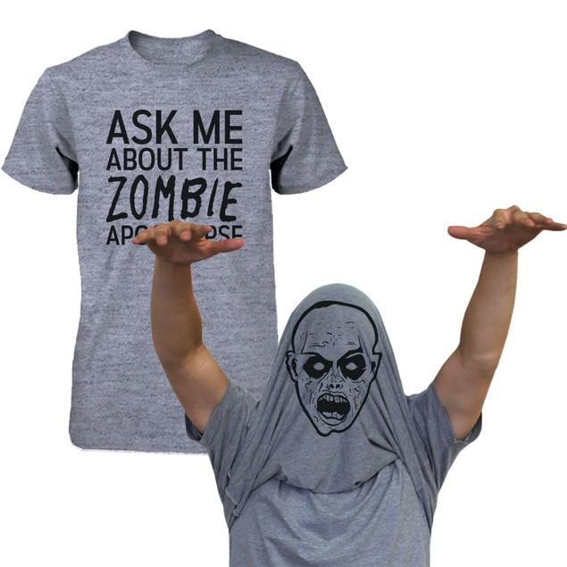 Ask Me About My T-Rex Shirt Funny Flip Up Dinosaur Tee Halloween T-shirt