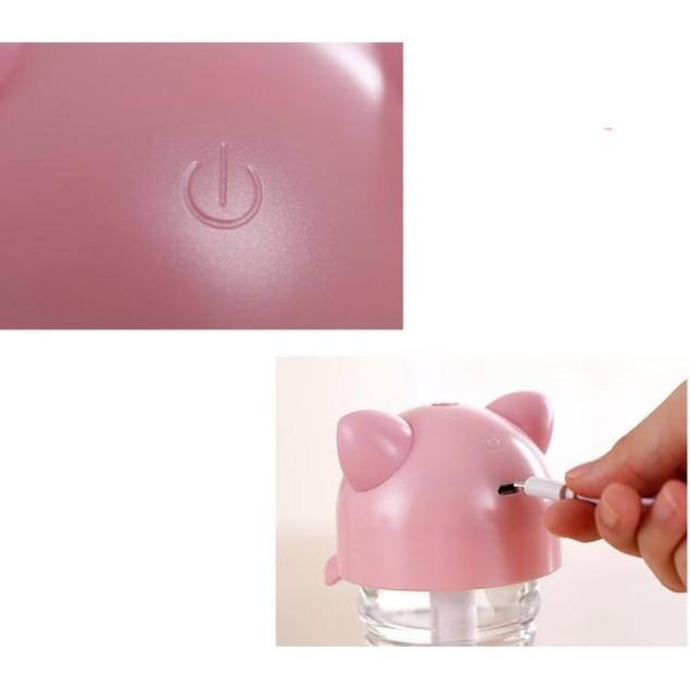 USB Mini Cartoon Bottle Cap Humidifier Office Air Diffuser Blue