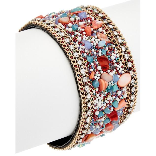 Crystal & Stone Magnetic Closure Bracelets