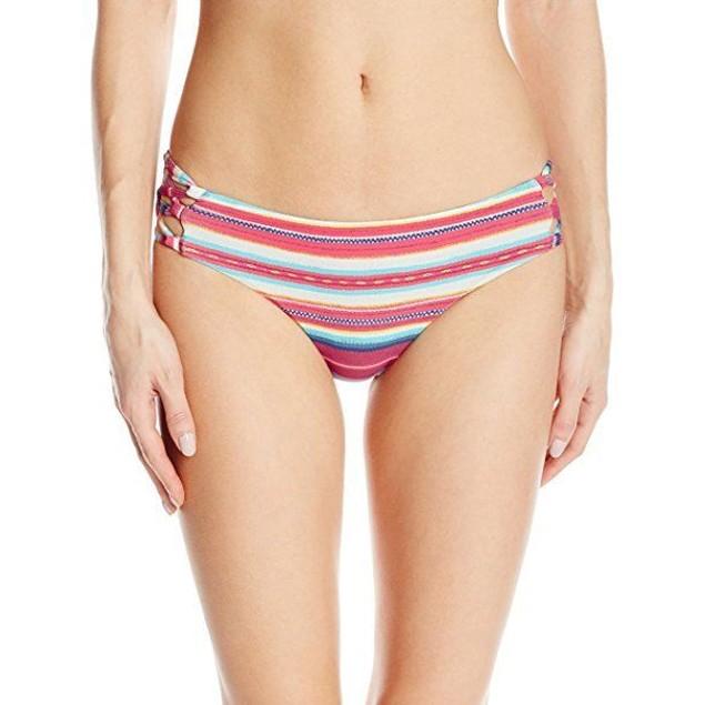 Billabong Women's Baja Babe Lowrider Bikini Bottom, Multi, SIZE MEDIUM
