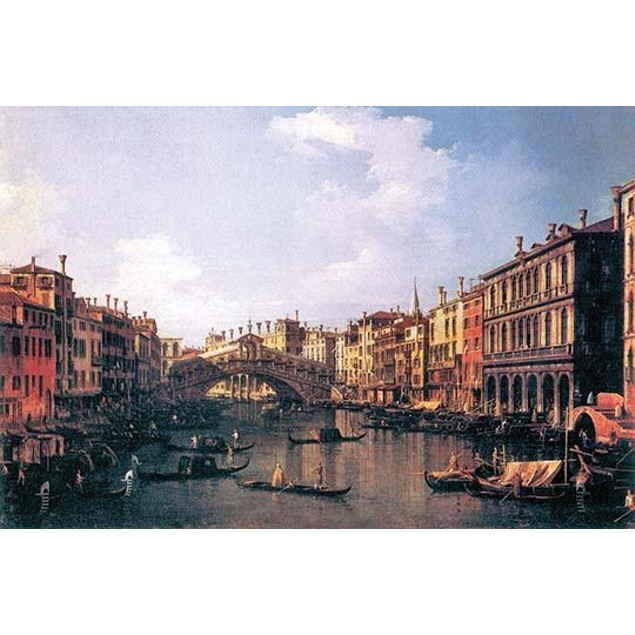 The Rialto Bridge.  High quality vintage art reproduction by Buyenlarge.  O