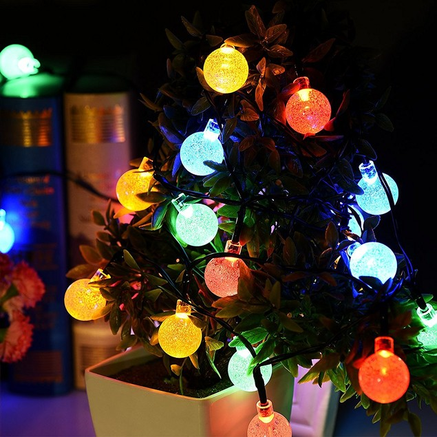 Liger Solar LED String Ball Lights for Outdoor Home Decorations