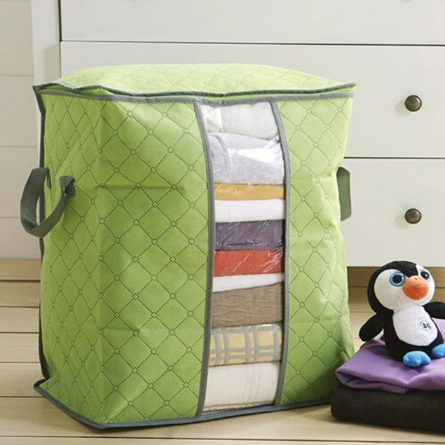 Quilted Storage Bag with Handles - 3 Colors