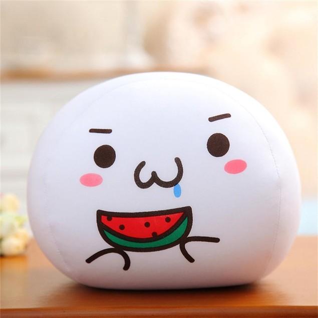 Emoji White Foam Particles Bubble Cushion Pillow Plush Toy Doll