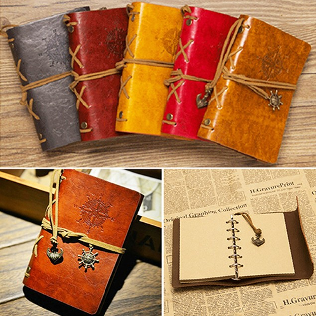 Fashion Personality Notebook Spiral Ring Binder Diary Retro Book