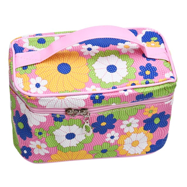 Square Sunflower Cosmetic Bag