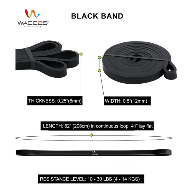 Wacces Resistance Pull Up Loop Body Bands & Power-Lifting Jump Band