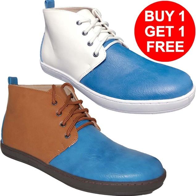 KRAZY SHOES Men's 2 For 1  Hi Top Shoes