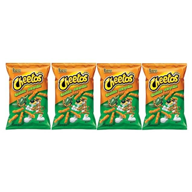 Cheetos Jalapeno Cheddar Crunchy Chips 4 Bag Pack