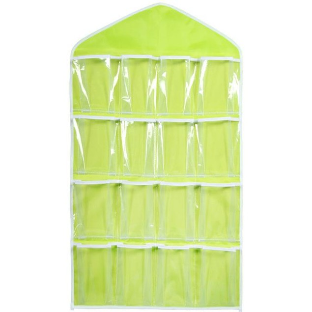 16-Pocket Hanging Closet Storage Organizer - 4 Colors