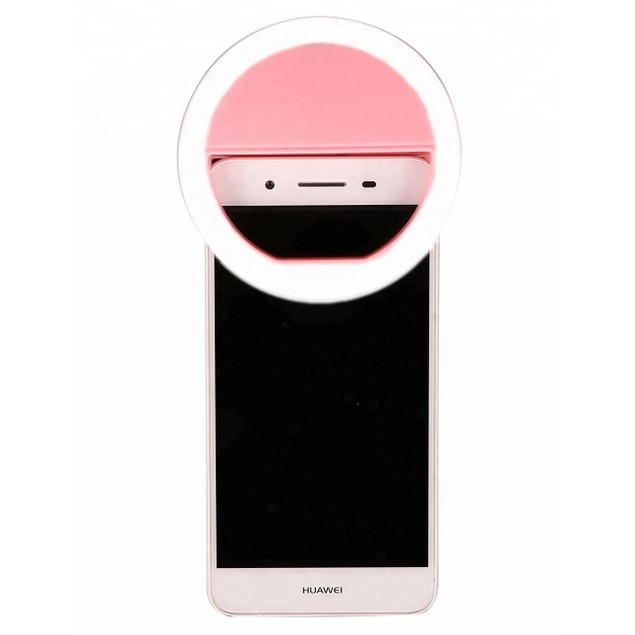 Selfie led ring with rechargeable usb cable