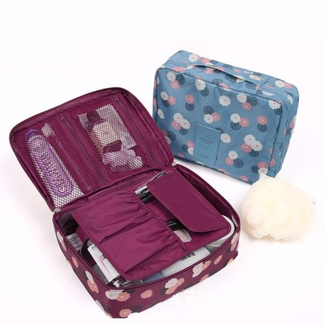 1pc Travel Cosmetic Makeup Toiletry Organizer Storage Bag Pouch Handbag