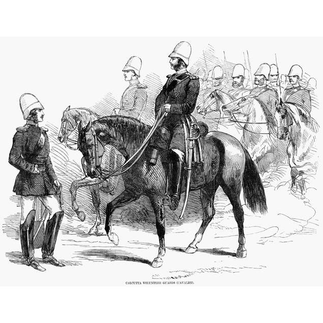 British Empire: Army, 1857. /Ncalcutta Volunteer Guards (Cavalry). Wood Eng