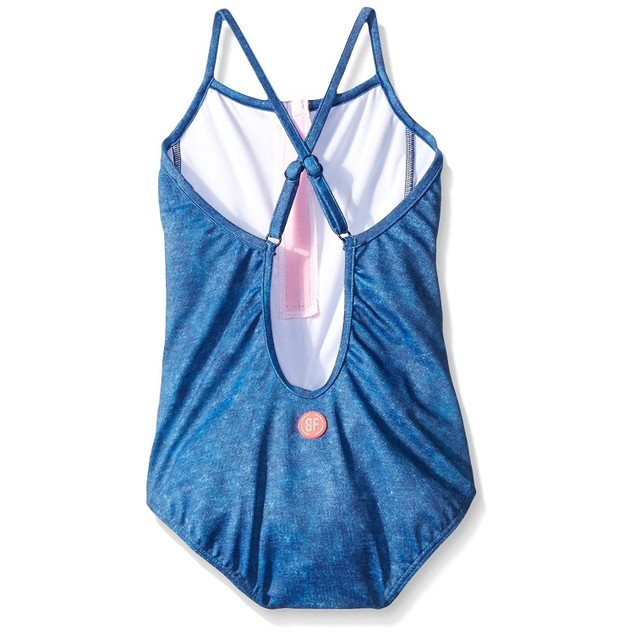 Seafolly Girls' Denim Street One Piece Tank Swimsuit