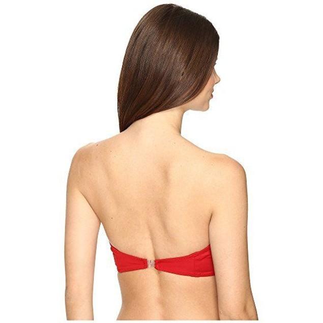 KAMALIKULTURE by Norma Kamali Women's Corset Bra Red Swimsuit Top SZ S