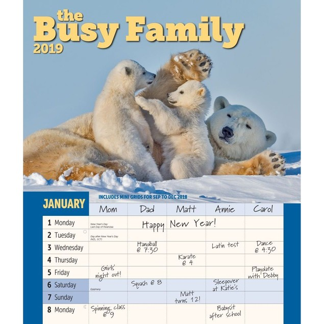 Busy Family Wall Calendar, Family Organizer by Calendars