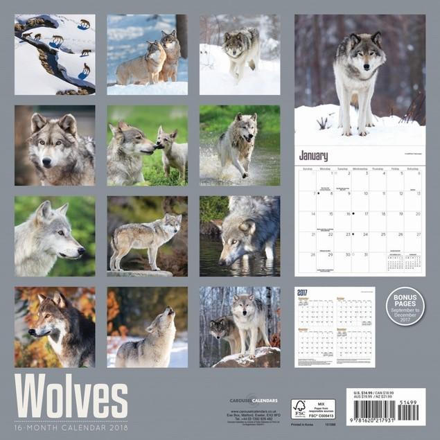 Wolves 2018 Wall Calendar