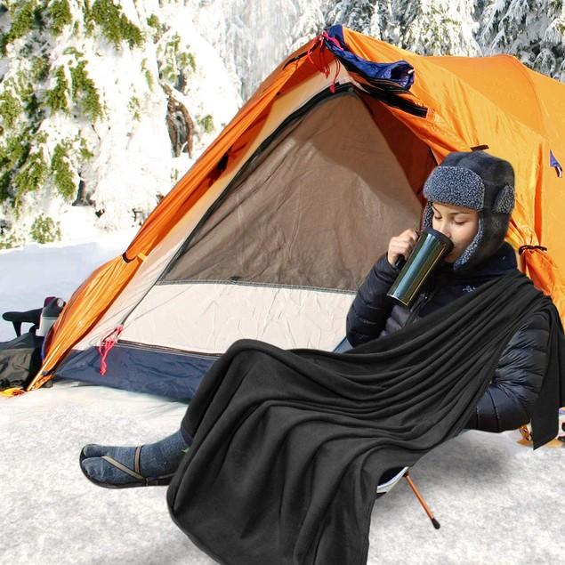 2-Pack Zone Tech Car Heated Travel Blanket 12V Heating Seat Blanket