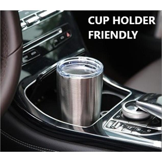 Cedar Stainless Steel 20oz Coffee Tumbler Mug with Splash-Proof Sliding Lid