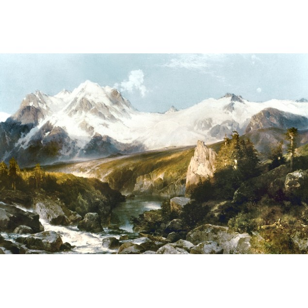 Moran: Teton Range, 1897. /Noil On Canvas, 1897, By Thomas Moran. Poster
