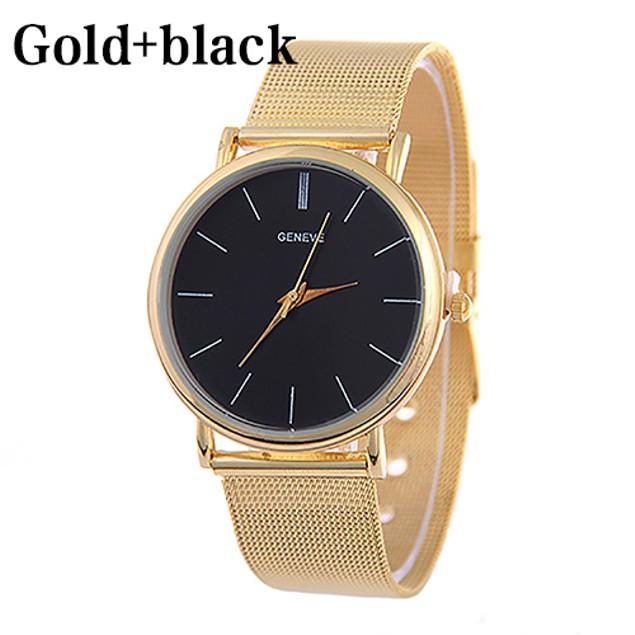 Women Fashion Geneva Stainless Steel Analog Quartz Wrist Watch