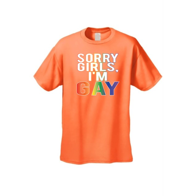 "Men's LGBT ""Sorry Girls, I'm GAY. Flag Pride!""  Short Sleeve T-shirt"