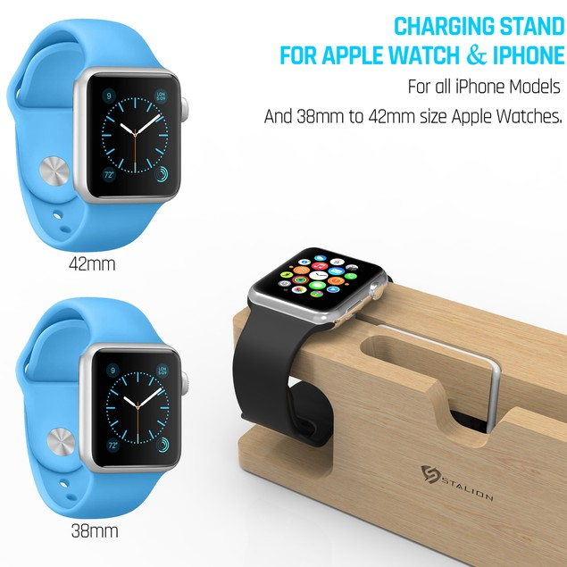 Stalion Stand Desktop Charging Dock Station for iPhone 6 6s 7 Plus & Watch