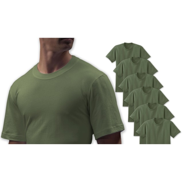 3-Pack Big Man Cotton Crew Neck Undershirts in 2X-6X