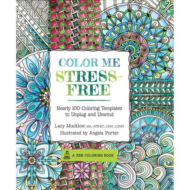Color Me Stress-Free Coloring Book, Modern | Pop Art by Motorbooks