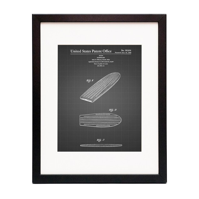 Surfboard Patent Poster