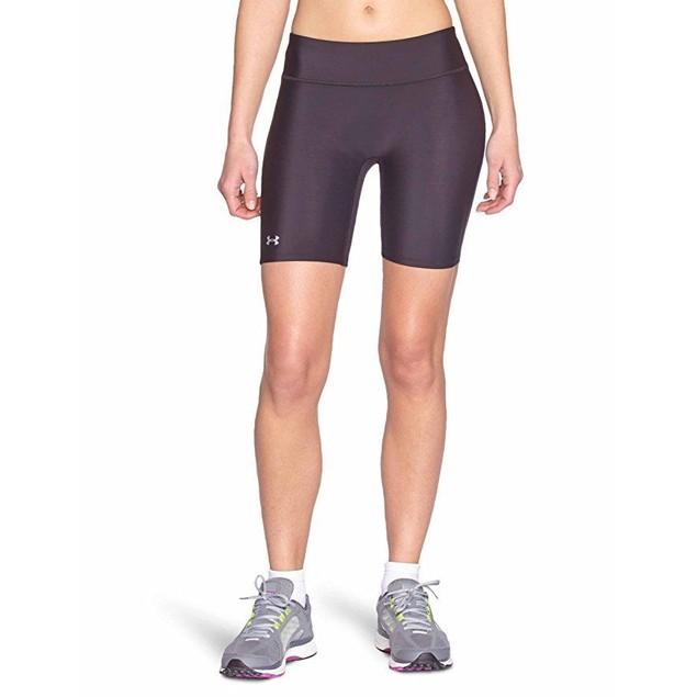 Under Armour Women's HeatGear Authentic Long Shorts, Black SZ: XS