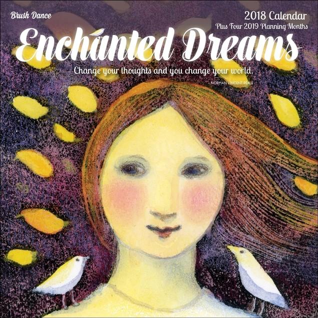 Enchanted Dreams Mini Wall Calendar, Women's Inspiration by Brush Dance