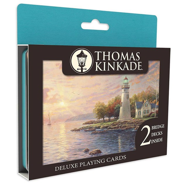 Kinkade Deluxe Playing Card 2 Deck Set, Kinkade by Ceaco
