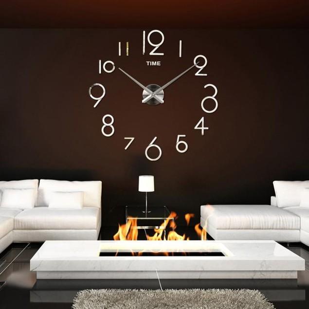 Wall Clock Living Room DIY 3D Home Decoration Mirror Large Art Design