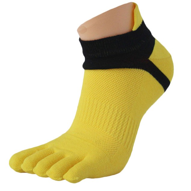 1 Pair MenMesh Meias Sports Running Five Finger Toe Socks