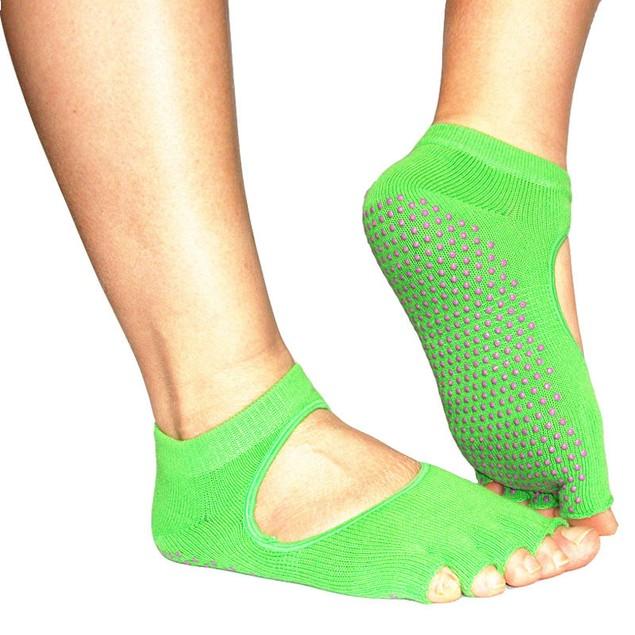 5-Toe Non-Slip Exercise Socks - Assorted Colors