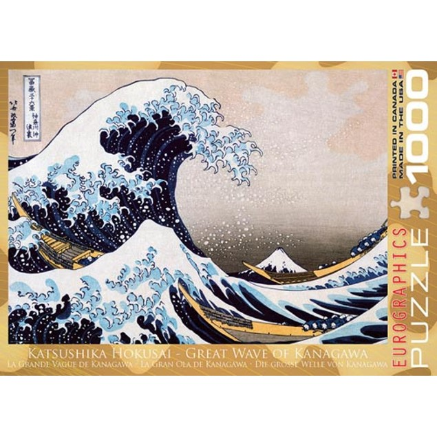 Great Wave of Kanagawa 1000 Piece Puzzle, 1,000 Piece Puzzles by Eurographi
