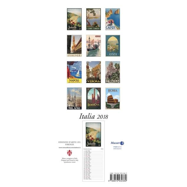 Italia Vertical Wall Calendar (Bilingual)