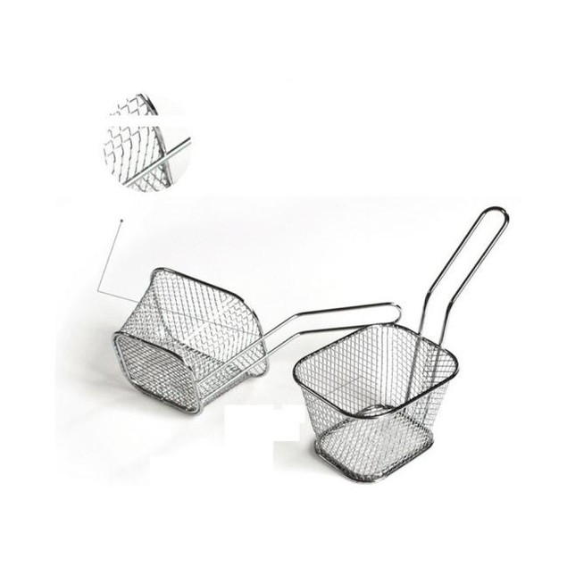 electroplate stainless steel Mini Frying net square block