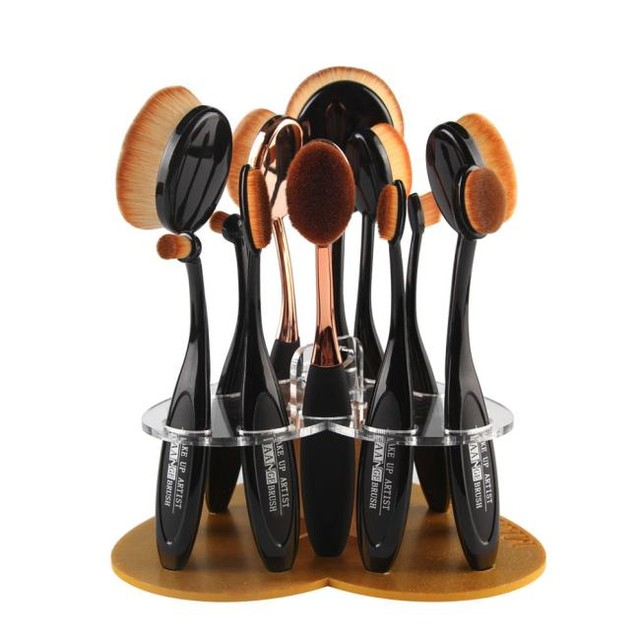 12 Hole Love Makeup Brush Holder and Drying Rack