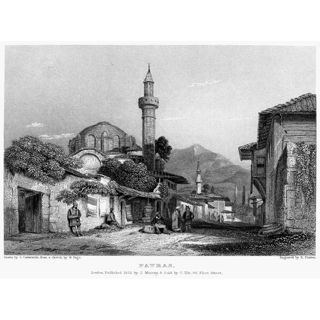Greece: Patras, 1832. /Nview Of Patras, Greece. Steel Engraving, English, 1