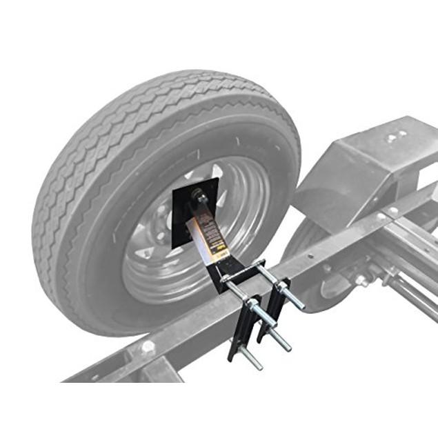 Maxxhaul 70214 Powder Coat Black Trailer Spare Tire Carrier