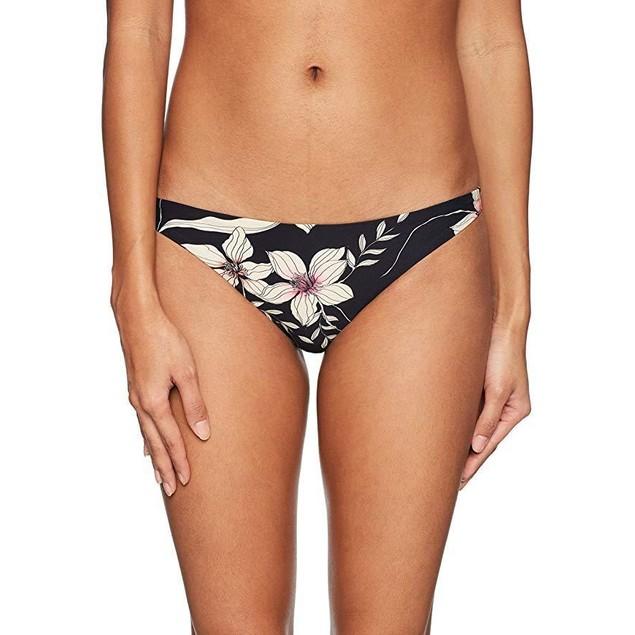 O'Neill Women's Albany Floral Classic Bikini Bottom, Black, M