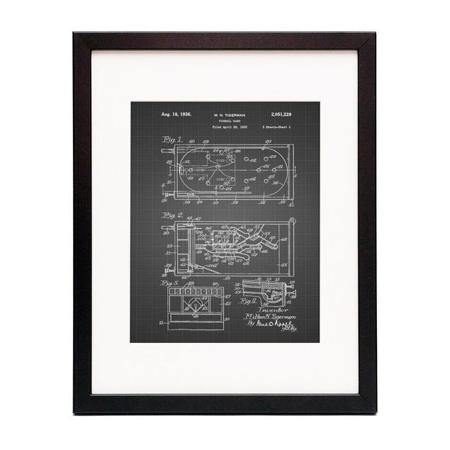 Pin Ball Machine Patent Poster